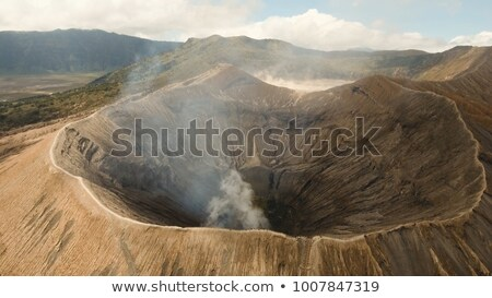 Aerial view on the crater of the Bromo volcano at the Bromo Tengger Semeru National Park on Java Isl Stock photo © galitskaya