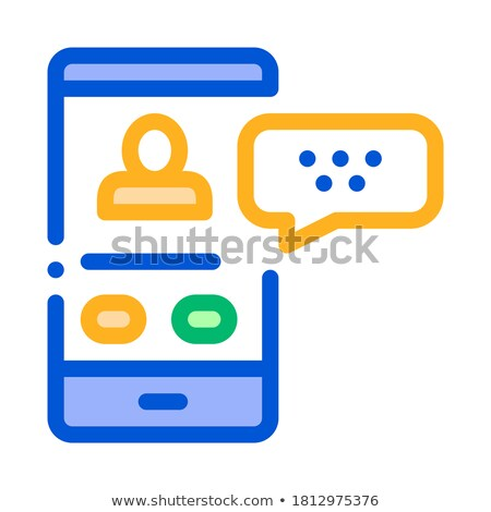 Passenger Incoming Call Online Icon Vector Illustration Stock photo © pikepicture