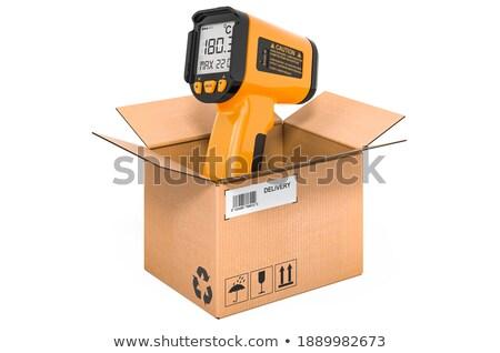 電子 赤外 計 ボックス 白 孤立した ストックフォト © ISerg