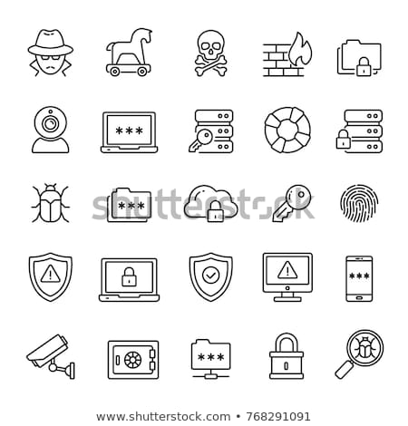 Virus information related vector thin line icon. Stock photo © smoki