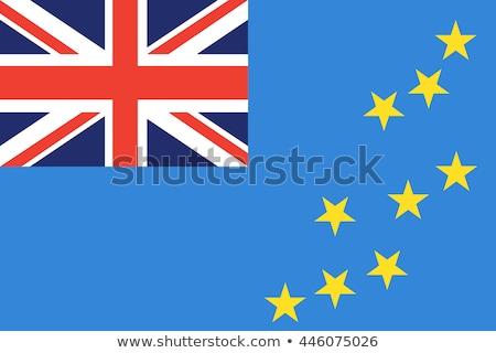 Tuvalu bandeira branco pintar azul viajar Foto stock © butenkow