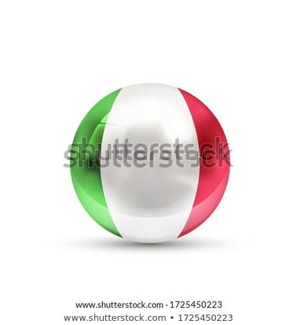 Italia bandiera lucido sfera bianco isolato Foto d'archivio © evgeny89