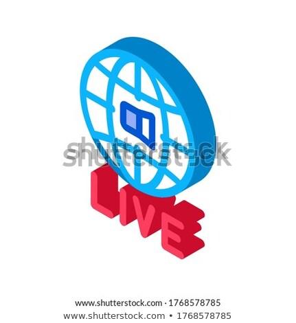 Мир широкий жить Подкаст изометрический икона Сток-фото © pikepicture