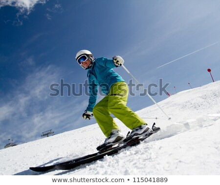 Mature female skier on a mountain Stock photo © photography33