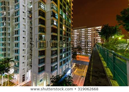 Residenziale Singapore view cielo costruzione città Foto d'archivio © 5xinc