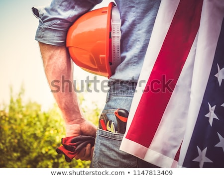 Attractive construction worker with a sledgehammer Stock photo © photography33