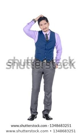 portré · üzletember · fej · közelkép · fehér · üzlet - stock fotó © wavebreak_media