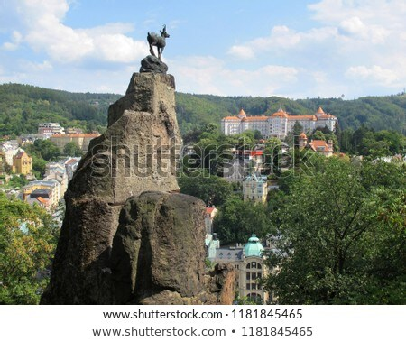 Karlovy Vary Deer Jump  Stock photo © LianeM