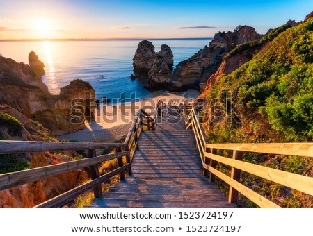 Footbridge On The Beach Stock photo © derocz