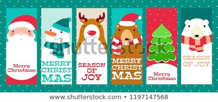 disfrutar · acción · de · gracias · tarjeta · de · felicitación · banner · aislado · texto - foto stock © tintin75