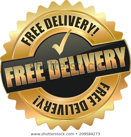 Free Delivery Gold Vector Icon Button Stock photo © rizwanali3d