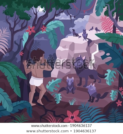 Character Mowgli with animal Stock photo © jossdiim