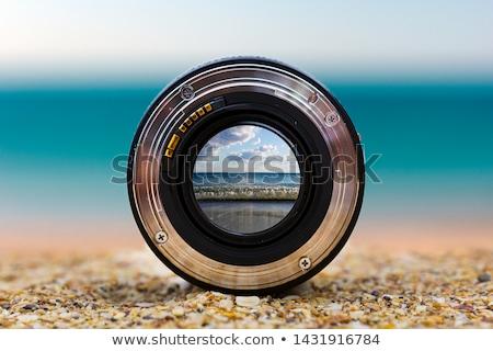 zee · strand · zicht · illustratie · stoel · zon - stockfoto © get4net