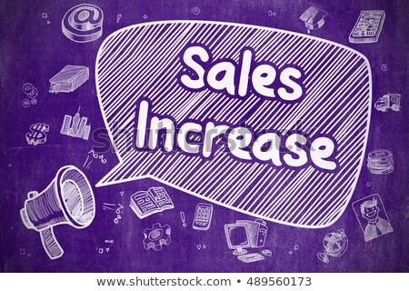 продажи рост болван иллюстрация Purple доске Сток-фото © tashatuvango