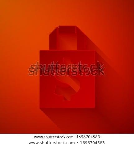 Vektor divat piros kézitáska izolált fehér Stock fotó © dashadima