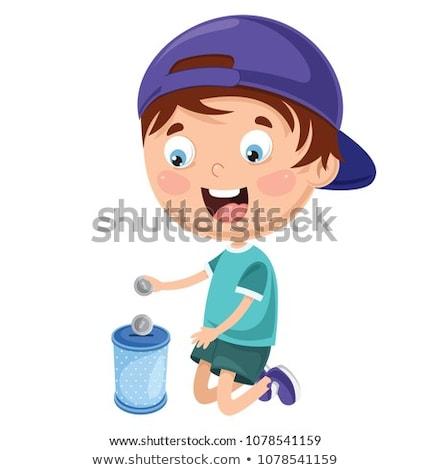 Criança menino negócio dinheiro ilustração Foto stock © lenm