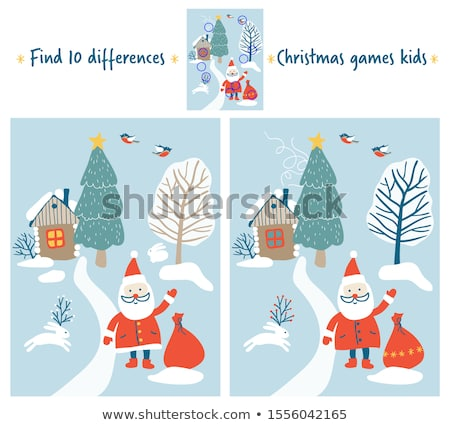 differences game with christmas characters stock photo © izakowski
