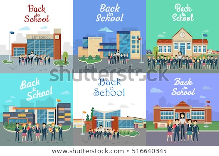 A set of different school building Stock photo © colematt