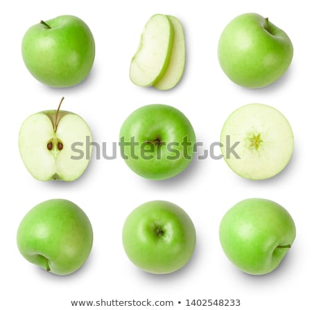 close up of sliced green apple stock photo © lichtmeister