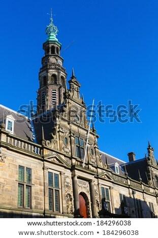 Cidade ouvir Holanda histórico torre céu Foto stock © borisb17