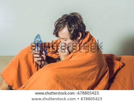 человека грипп холодно медицинской терапии Сток-фото © galitskaya