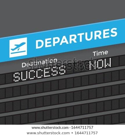 Aéroport départ bord succès 3D Photo stock © tashatuvango