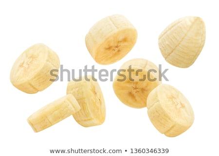 Friss érett organikus banán szeletel darabok Stock fotó © DenisMArt