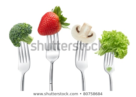 Four types of vegetables on white background Stock photo © bluering