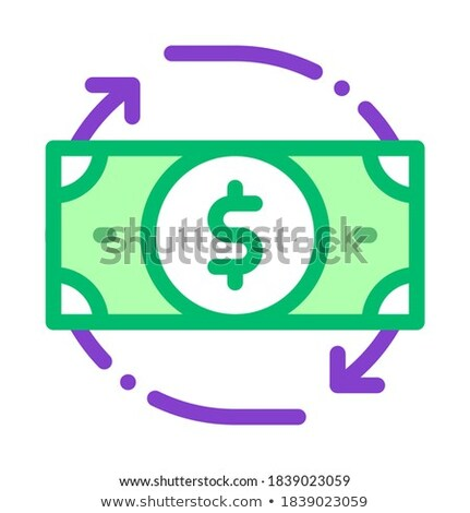 Bank Note Dollar And Around Arrows Vector Icon Stock photo © pikepicture