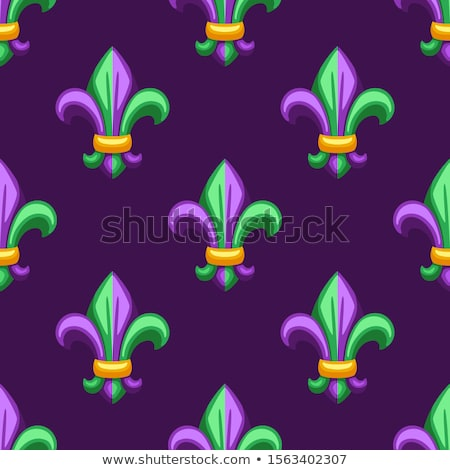 Mardi gras fleur de lis vector seamless pattern. Stock photo © yopixart