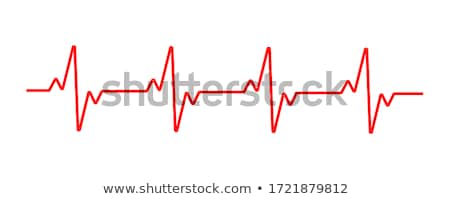 heart with cardiograph line medical blue background Stock photo © SArts