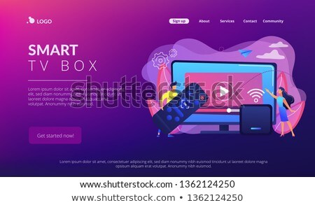 Smart TV box concept landing page. Stock photo © RAStudio