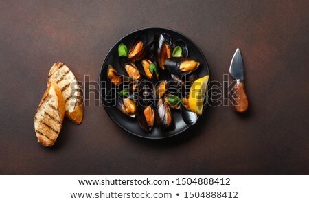 plate of mussels Stock photo © M-studio