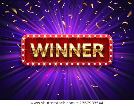 Winnaar winnend succes vrouw gelukkig extatisch Stockfoto © Mazirama