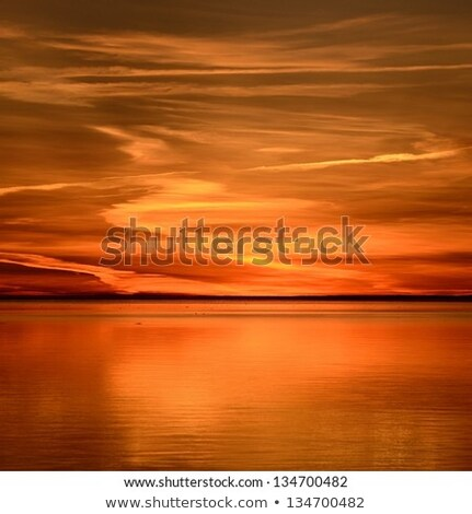 Stock photo: ebb flow blue and orange