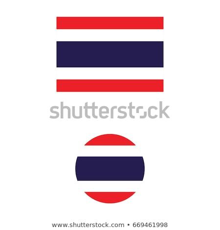 Thaiföld · zászló · web · design · stílus · térkép · gomb - stock fotó © zeffss