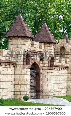 ストックフォト: 古い · 古代 · 市 · 建物 · 山