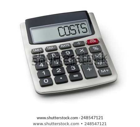 Calculator with the word costs on the display Stock photo © Zerbor