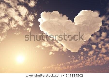 parlak · kalpler · çerçeve · kalp · soyut - stok fotoğraf © saicle
