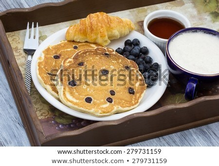 Déjeuner fraîches myrtille café Photo stock © georgejmclittle