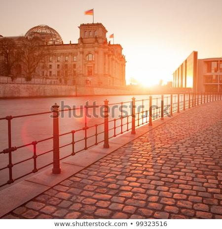 Reichstag with reflection in Spree, Berlin Stock photo © meinzahn