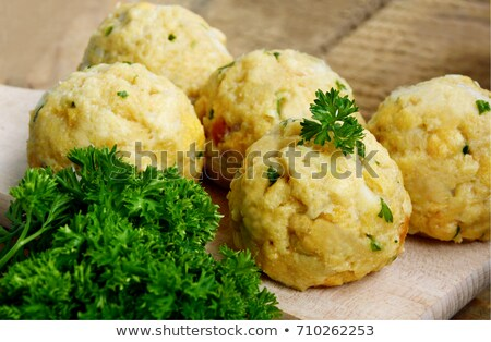 German bread dumplings with sauerkraut and onion Stock photo © Digifoodstock