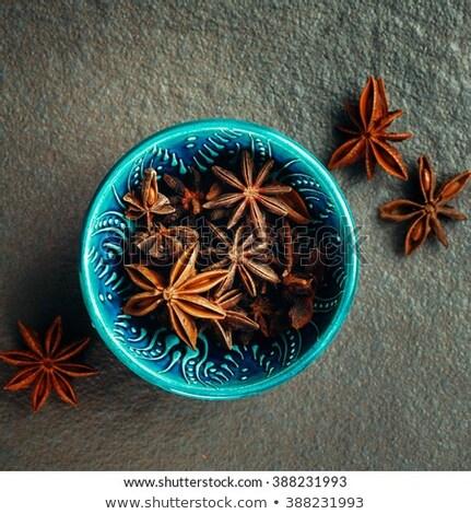 Authentiek Blauw kom vol anijs sterren Stockfoto © dariazu