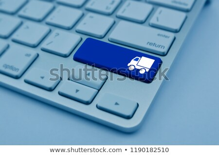 青 · ウェブ · マーケティング · キーパッド · キーボード · キー - ストックフォト © tashatuvango