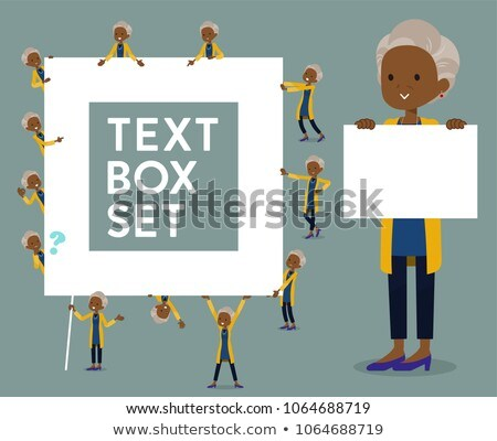 Stockfoto: Type · cardigan · zwarte · oude · ingesteld · vrouwen