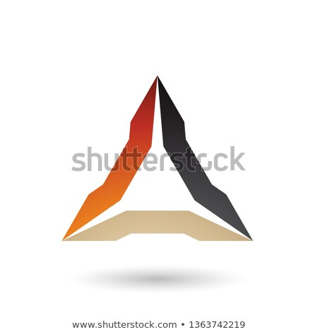 Orange Beige and Black Spiked Triangle Vector Illustration Stock photo © cidepix