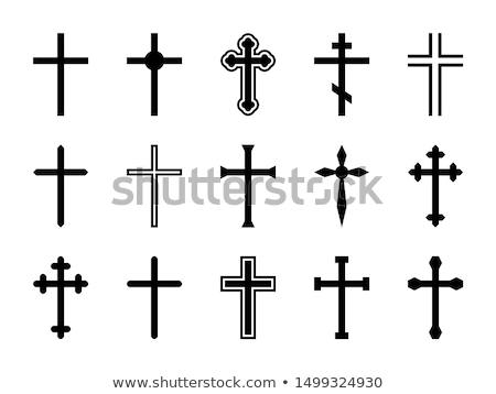 siluetas · diferente · cruces · negro · blanco · mundo - foto stock © ratkom