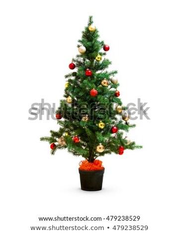 небольшой искусственный рождественская елка ярко желтый дома Сток-фото © ElenaBatkova