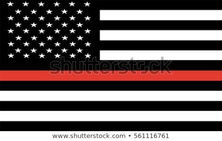 Policji strażak amerykańską flagę ilustracja wektora Zdjęcia stock © enterlinedesign