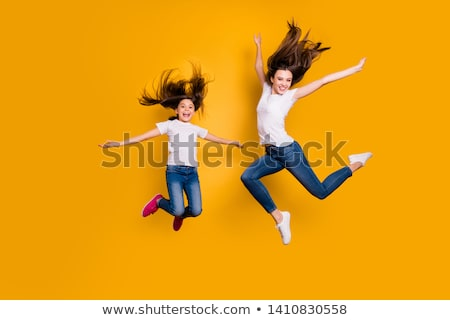 Schoolmeisje witte shirt ingesteld kort huls Stockfoto © toyotoyo